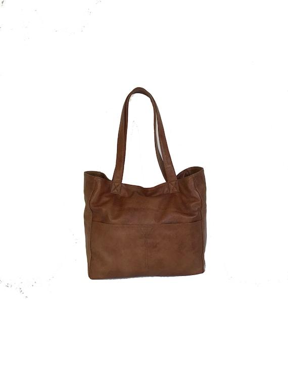 e10ca94d65f62 Brown Leather Tote Bag Large Handbag Casual Purse Fashion