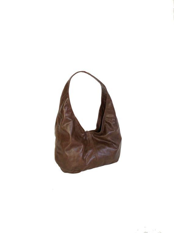 a0d3dbaa0a Brown Leather Hobo Bag Purse Leather Purse Shoulder Handbag