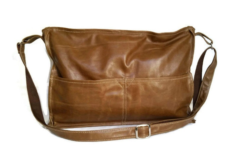 9a0baffc1 Distressed Brown Leather Bag Rustic Leather Crossbody Purses   Etsy