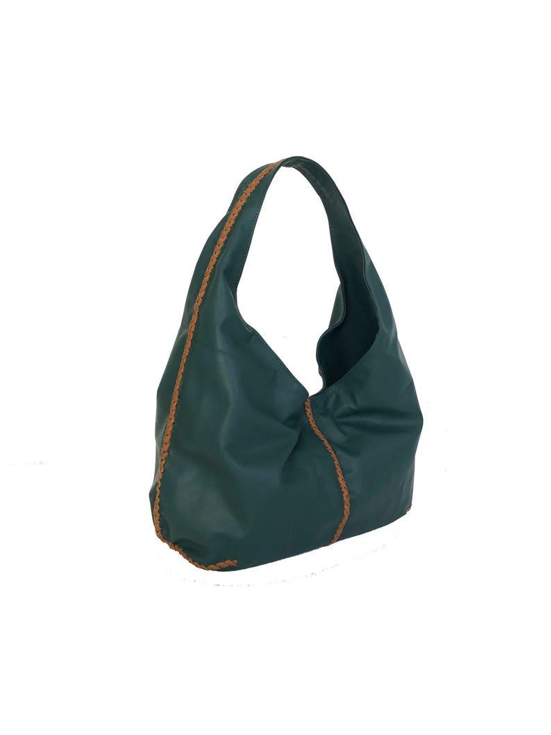 ce3e1702776562 Leder Hobotasche Handtasche grün handgefertigte Geldbörsen | Etsy