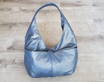 Leather Bag, Everyday Hobo Bags for Women, Handmade Casual Purses and Bags, Alyna