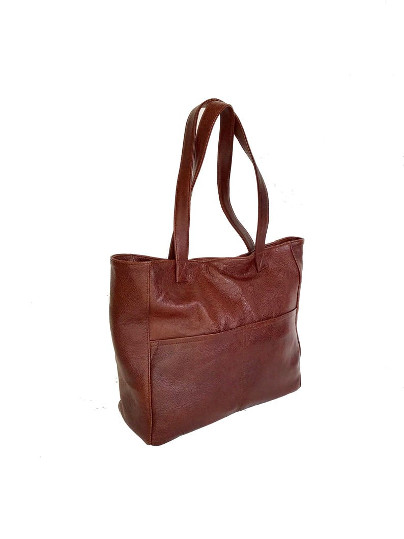fa716c092c635 Große braune Leder-Einkaufstasche lässige Mode-Taschen