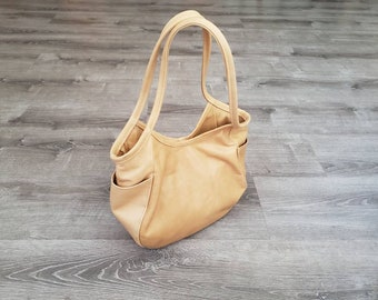 Distressed Brown Leather Bag, Women Purses, Fashion Bags, Casual Purse, Handmade Bags and Purses, Handbags, Hobo Totes, Amelia