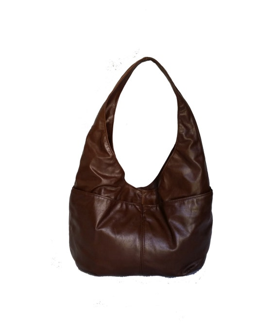 0f1f5cdff3 Brown Leather Hobo Bag Hobo Purse Slouchy Purse Trendy Bag