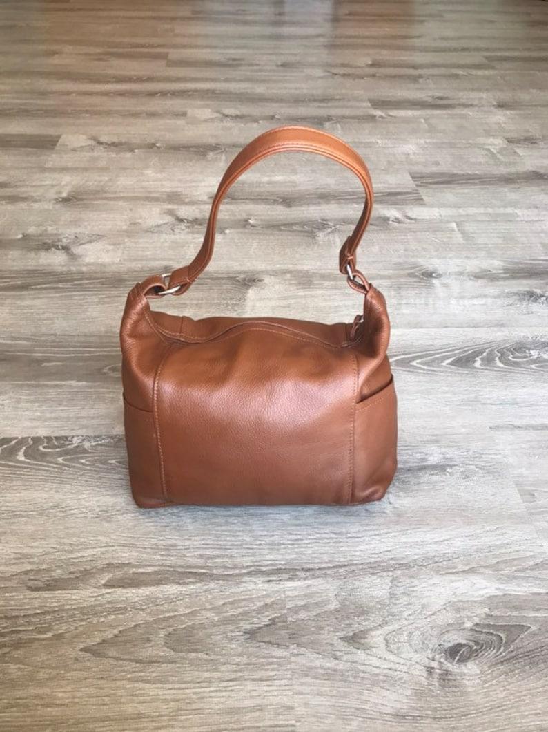 e10214f8d1af7 Braune Ledertasche Umhängetasche Mode-Taschen Frauen