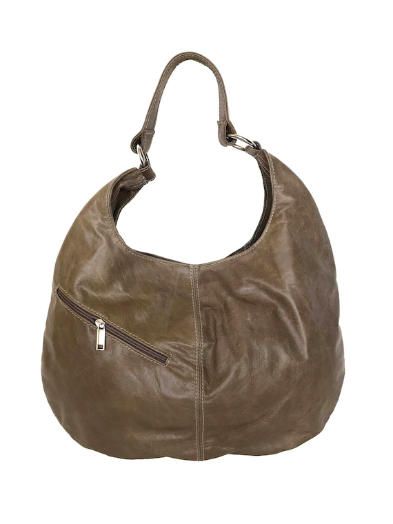 1fa13d014946 Distressed Leather Hobo Bag Purse Slouchy Leather Bag Large