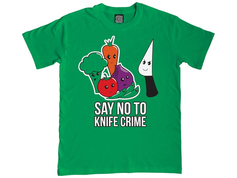 e5373e8e Say No to Knife Crime T-Shirt Funny T-Shirts Ladies & Mens | Etsy