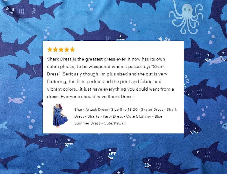 Shark Attack Dress Size 6 to 20 Blue Skater Dress  2d3df58a1