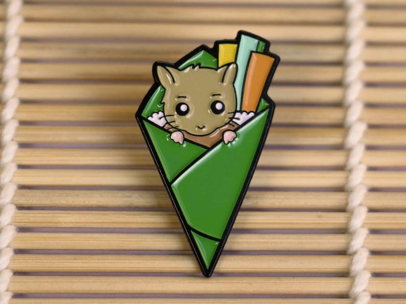 Hamster Sushi Enamel Pin - Hamster Gifts - Cute Accessories - Kawaii  Japanese Gifts - Sushi Pin Badge - Animal Pins - Pets