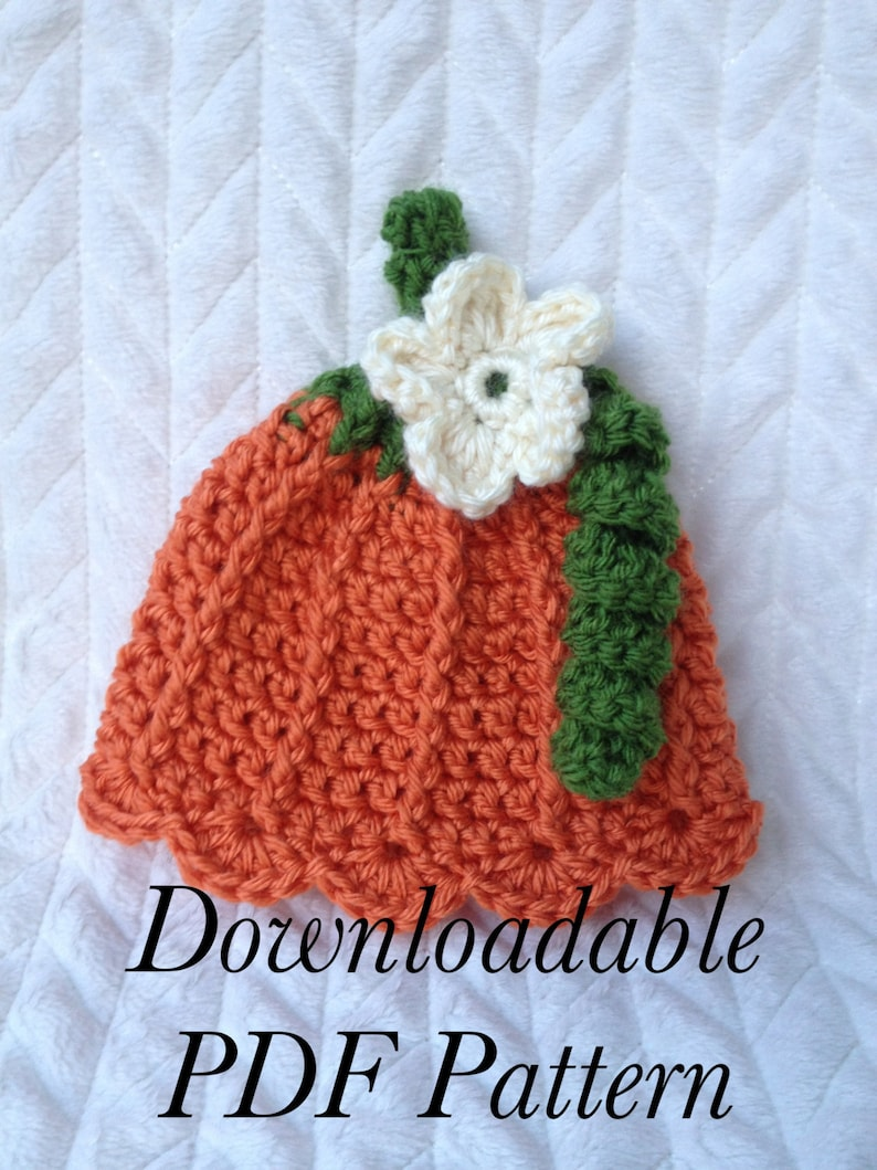 Instant Download Pattern Crochet Pumpkin Hat Pattern 3 Etsy
