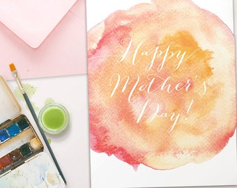 Watercolour Mother's Day Card - Instant Download