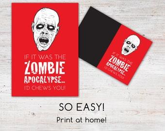 Zombie Apocalypse Love Card