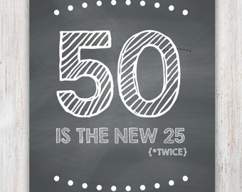 Adaptable image intended for 50th birthday signs printable