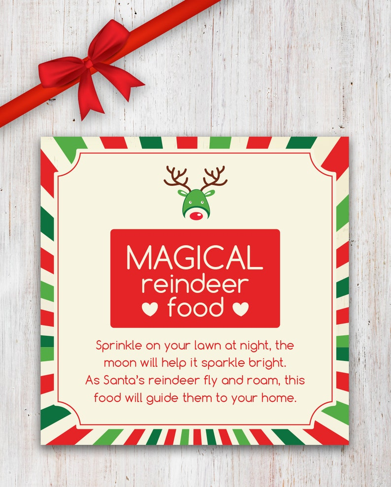 graphic about Magic Reindeer Food Printable identify Magical Reindeer Food stuff Printable with Poem