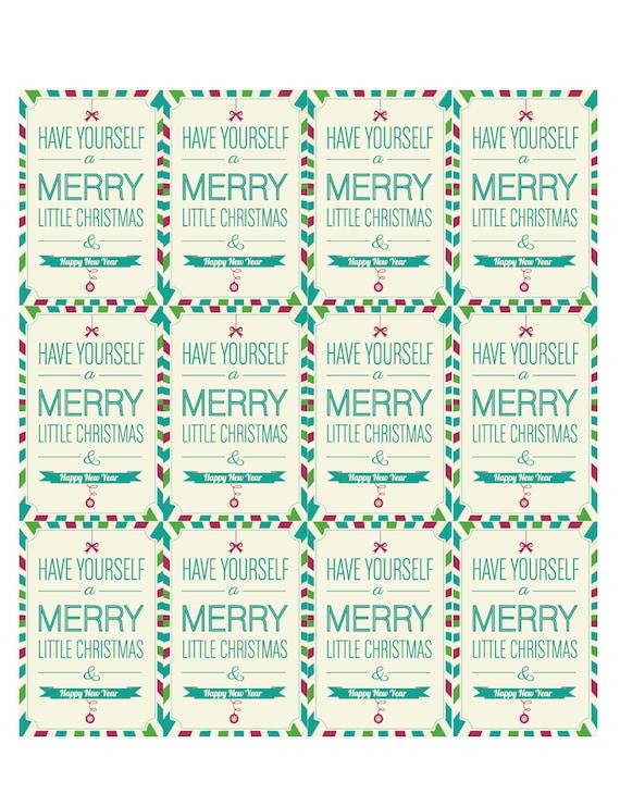 Digital Christmas Gift Tag Printable Etsy