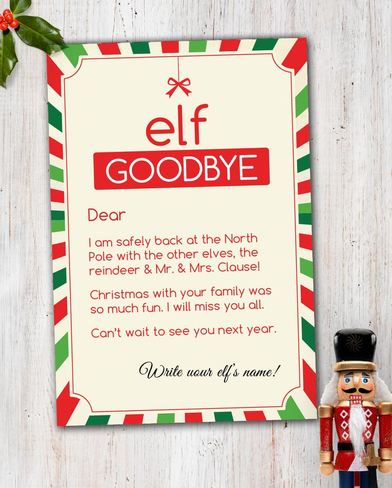Magic Elf Goodbye Note image 0