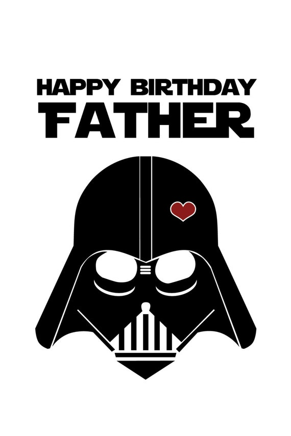 Dramatic image for printable star wars birthday cards