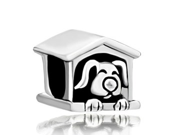 Dog House Spacer Bead For European Style Charm Bracelet