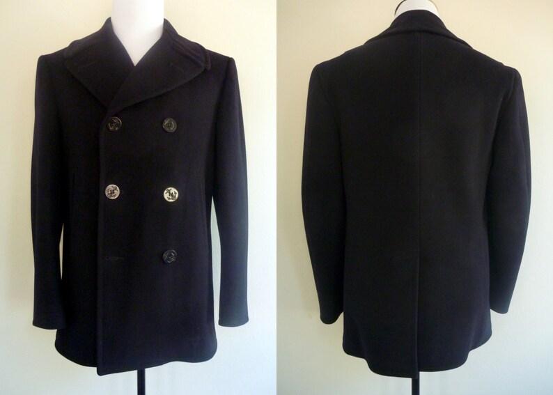 94a2b61cbf2 RARE Vintage 1960s 100% Wool US Navy Kersey Blue
