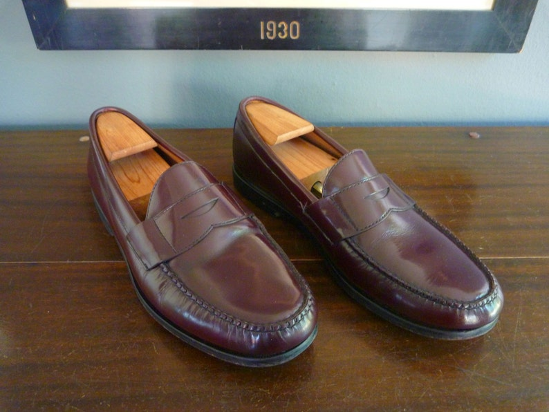 18a512ceb81 Vintage Brooks Brothers Classic Weejun-Style Penny Loafers 12