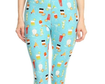 89ec9dc6fe124c It's 5 o'Clock Somewhere Leggings for Women • Perfect for Happy Hour With  Your Dog (and Friends!)