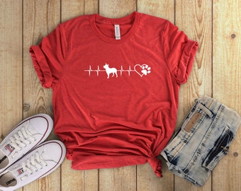 My Dog is My Heartbeat T-Shirt for Dog Moms | Perfect for Spring and Summer!