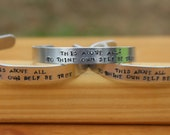 Oops - Hamlet - To Thine Own Self Be True - Metal Stamped Shakespeare Quote Cuff Bracelet