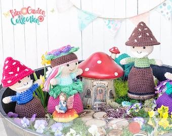 Fairy Garden Doll Collection - Amigurumi Crochet Topsy-Turvy Pattern