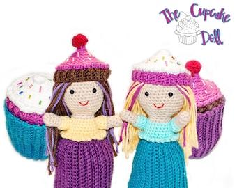 Amigurumi Crochet Cupcake Topsy-Turvy Doll Toy Pattern