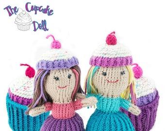 Amigurumi Knit Cupcake Topsy-Turvy Doll Toy Pattern