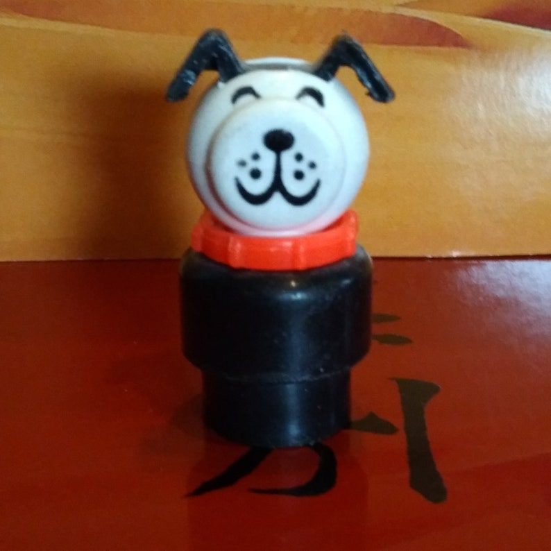 Fisher Price Little People Black Dog Figure with Red Collar image 0
