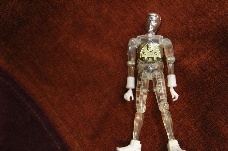 1976 Series 1 Mego Micronauts Time Traveler Clear Action image 0