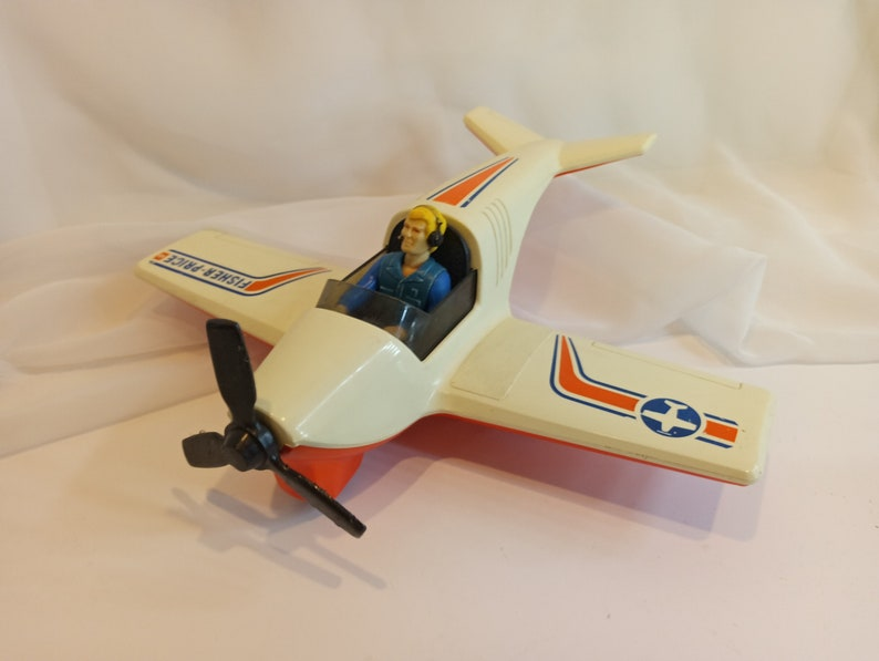 Fisher Price Adventure People Daredevil Sport Plane and figure image 0