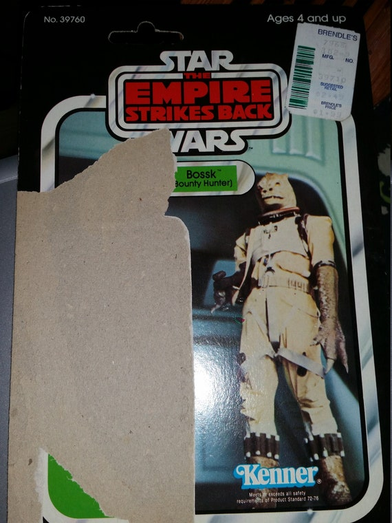 Star Wars Empire Strikes Back Bossk Bounty Hunter Card Back