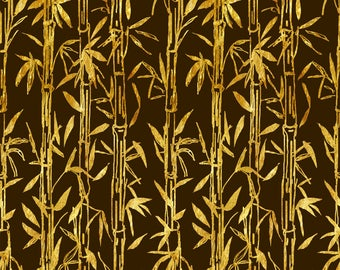Golden Bamboo 1:12 Dollhouse Wallpaper Digital Download