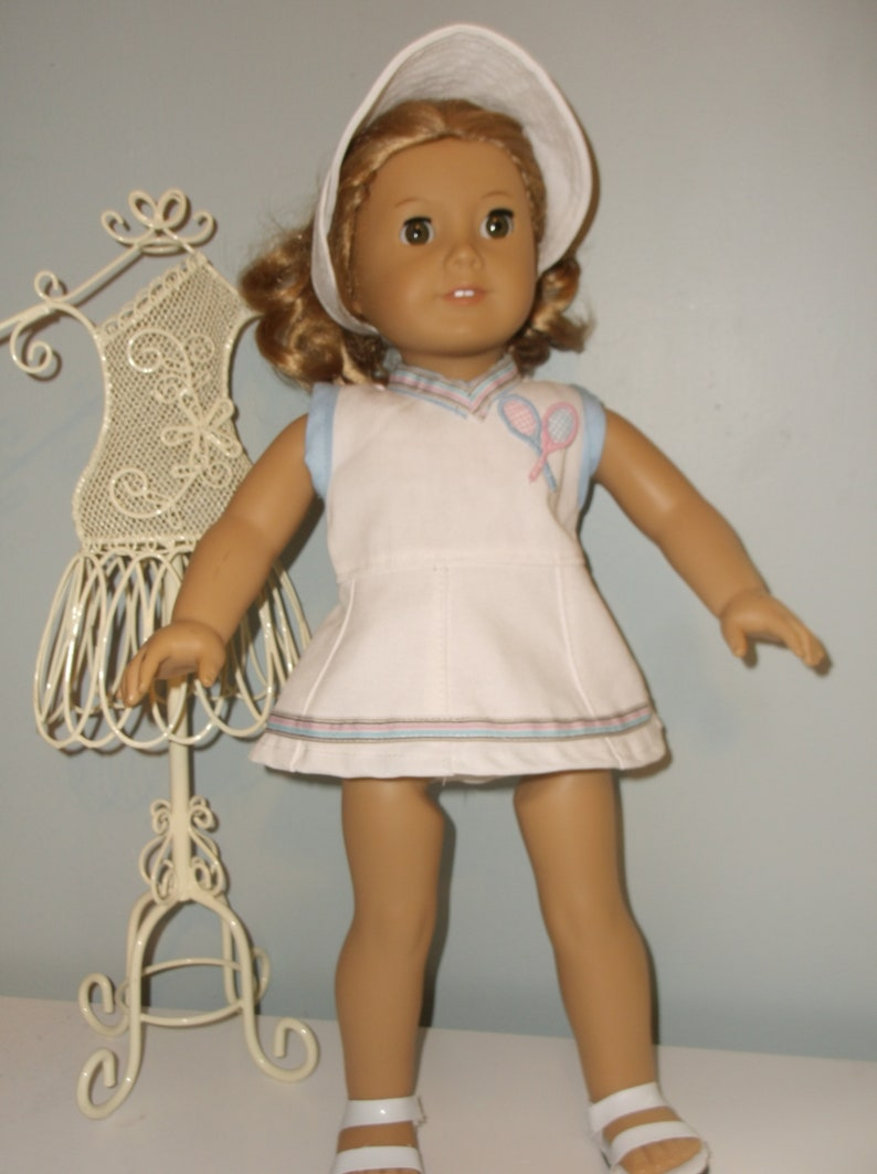 63f62633faa4e 18 inch doll outfit, 3 piece white tennis outfit by Project Funway on Etsy