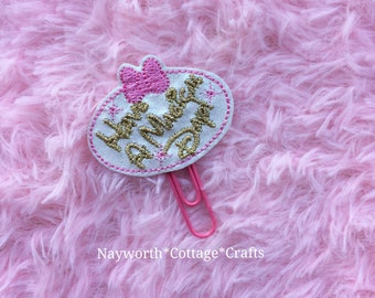 Embroidery charm kikkik diary craft Sewing machine planner paper clip