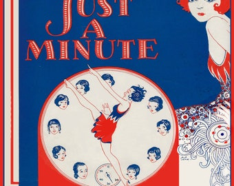 Art Deco Dancing Round the CLOCK, Instant DIGITAL Download, Vintage Sheet Music