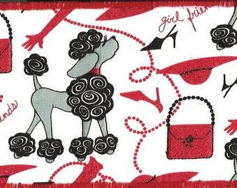 Just a High Fashion Poodle Fabric Postcard2