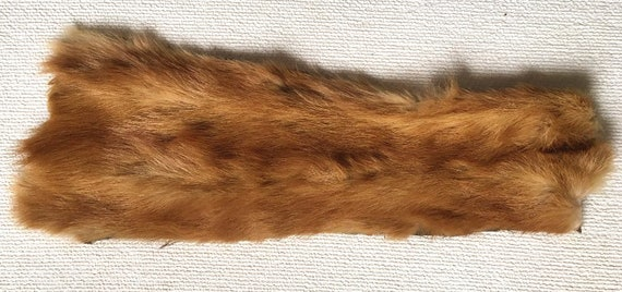 Small Sable Mink Pelt; Clean and Removed from Mink Collar; 5 Available Pieces Perfect for Bisque Doll Clothing Cuffs and Collars