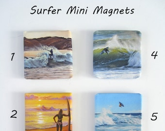 2x2 Ocean Seascape Mini Fridge Magnets on Canvas by J. Mandrick -- 16 to choose from!