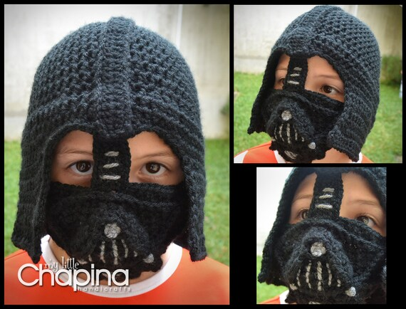 Pattern Darth Vader Crochet Hat For Children Not The Physical Etsy