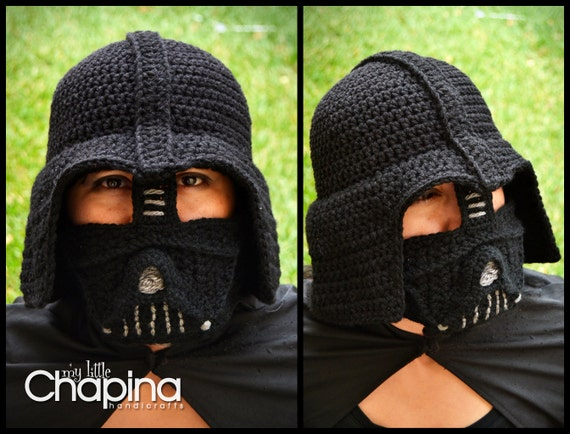 Pattern Darth Vader Adult Size Crochet Hat Not The Physical Etsy