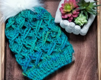 Unbreakable Vow Toque, Warm Knit Hats, Chunky knit Beanies, Unisex Knits, Girlfriend Gifts, Hand Knit Toques, Textured Knit hats, Bulky Knit