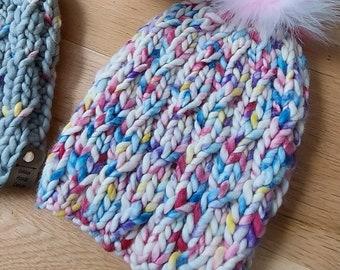 The Ethereal Beanie, Warm Winter Beanie, Luxury Knit Hat, Merino Wool Hat, Hats for Women, Girlfriend gifts