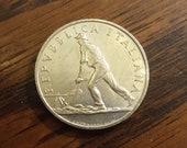 1950 Italy 2 Lire KM 88
