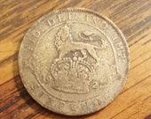 1921 Britain 6 Pence SILVER inv