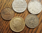 Europe Coin Lot of 5 1919-41 2Feb