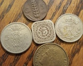 Europe Coin Lot of 5 1914-50 1Feb