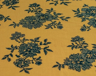 NEW AUSTRALIAN OFF THE ROLL,STRETCH 150cm WIDE NAVY BLUE FLORAL KNIT FABRIC